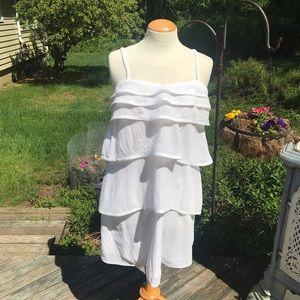 Diane von Furstenberg white tiered dress